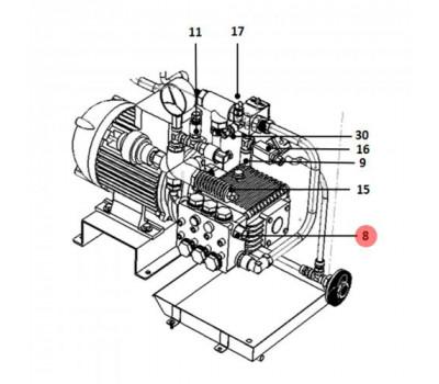CAREL 1309989AXX Ниппель из нержавеющей стали М22, CAREL