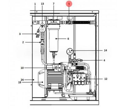 "UAKRID1000 Редуктор давления CAREL 2 бар, 3/4 ""GAS F (для UA600**4 - UA1K0**4)"