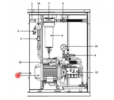 UAKM037F51 Электродвигатель CAREL для UA080DD****