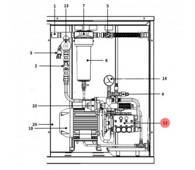 CAREL 1309537AXX Помпа CAREL 264 л/ч для UA250HD1/HD2*0; UA250SL0*0; UA320**3*0, латунь