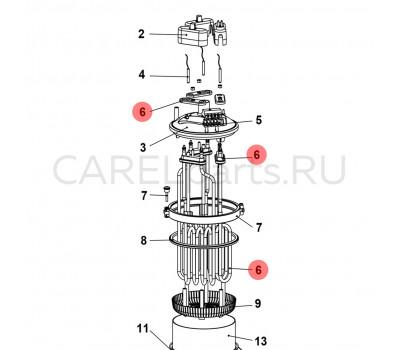URKH03I404 Нагревательный элемент (ТЭН) CAREL из сплава Incoloy