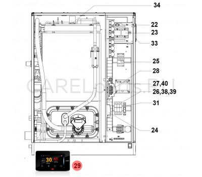 CAREL HCTXRCR000 Дисплей сенсорный CAREL (pGDX) для UR*4 20-80 кг/ч