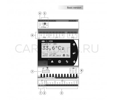 P+D000UBC0LF0 Контроллер CAREL c.pCO mini типоразмер Basic