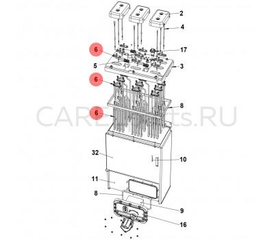 CAREL URKH03T505 Нагревательный элемент (ТЭН) CAREL титановый