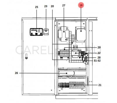 CAREL UAKVFD3000 Инвертер CAREL 3 кВт 400–460 В для UA1K0