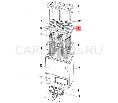 URKCOP8020 Крышка цилиндра CAREL