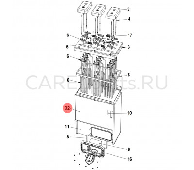 URKTI40000 Теплоизоляция цилиндра CAREL