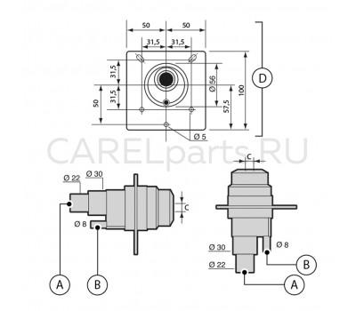 CAREL SDPOEM0012 Форсунка CAREL до 3 кг/ч